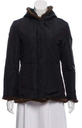 Andrew Marc Faux Fur Hooded Jacket