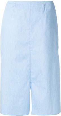Julien David straight-fit midi skirt