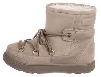 Moncler Metallic Snow Ankle Boots