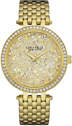 Caravelle New York by Bulova Women's Gold-Tone Stainless Steel Bracelet Watch 38mm 44L184 $130 thestylecure.com