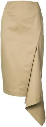 Monse draped side detail skirt
