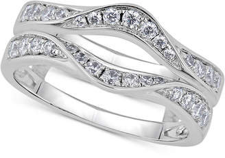Macy's Diamond Curved Ring Guard (5/8 ct. t.w.) in 14k White Gold