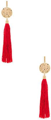 Ettika Hanging Tassel Earring in Metallic Gold. $45 thestylecure.com