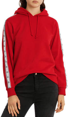 Miss Shop Sleeve Tipping Stripe Hoodie MSCW18233