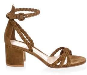 Gianvito Rossi Portofino Braided Block Heel Sandals