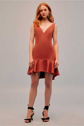 Keepsake INTRIGUE MINI DRESS burnt orange