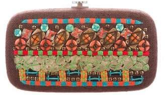 Oscar de la Renta Embellished Box Clutch