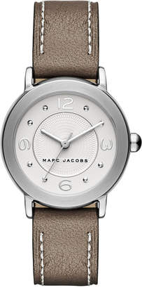 Marc Jacobs Women Riley Cement Leather Strap Watch 28mm