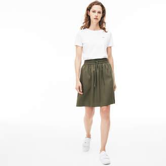 Lacoste Women's Elasticized Waistband Mid-Length Skirt