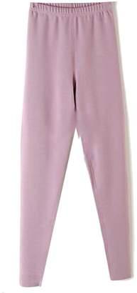 Wenko Joe JWK Womens Classic Fleece Lined Solid Color Stretch Seamless Pants Leggings X-Large