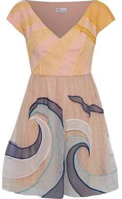 RED Valentino Organza-Appliquéd Point D'esprit Mini Dress