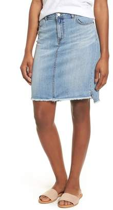 Caslon Release Hem Denim Skirt