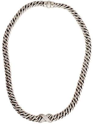 David Yurman Diamond X Chain Necklace