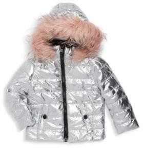 Urban Republic Little Girl's Faux Fur-Trimmed Hooded Puffer Jacket