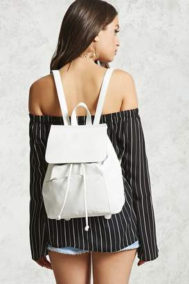 FOREVER 21+ Faux Leather Flap-Top Backpack $29.90 thestylecure.com