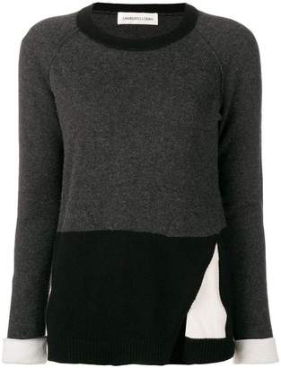Lamberto Losani colour-block fitted sweater
