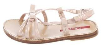 Prada Girls' Patent Leather Sandals