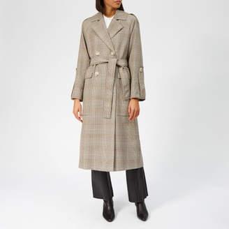 Whistles Women's Check Trench Coat