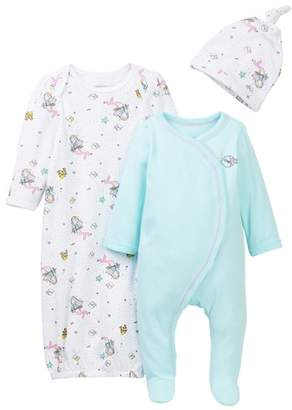 Vitamins Baby Mermaid Footie, Gown, & Hat Set (Baby Girls 0-3M)