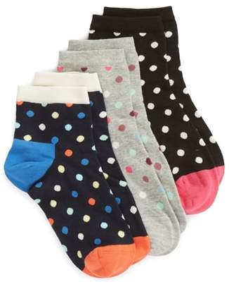 Happy Socks Dot 3-Pack Ankle Socks
