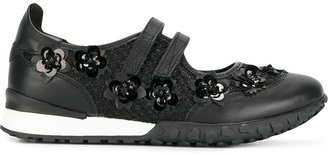 Twin-Set beaded flowers trainers $227.04 thestylecure.com