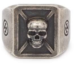 Vetements Skull Sterling Silver Ring - Mens - Silver