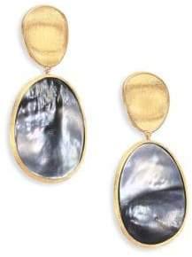 Marco Bicego Women's Lunaria Black Mother-Of-Pearl& 18K Yellow Gold Long Drop Earrings - Gold/Grey