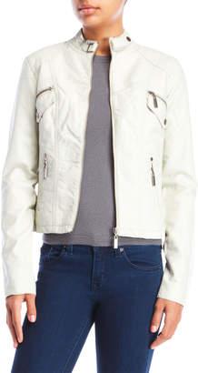 Joujou Jou Jou Faux Leather Zip Jacket