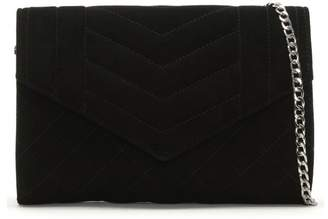 Daniel Alcove Black Suede Quilted Clutch Bag