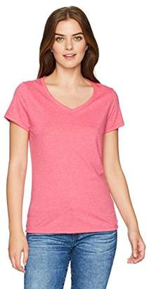 Hanes Women's X-Temp Short Sleeve V-Neck Tee with FreshIQ