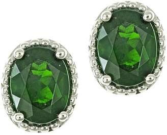 Chrome Diopside Sterling Silver Stud Earrings