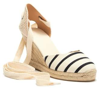 Soludos Striped Tall Espadrille Wedge