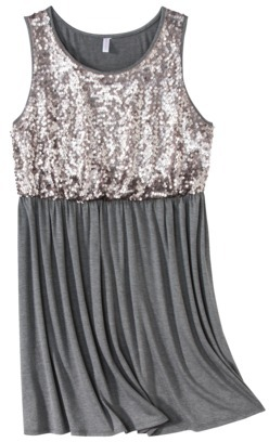 Xhilaration Juniors Plus-Size Sleeveless Sequined Dress - Assorted Colors