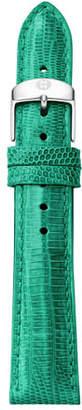 Michele 18mm Lizard Skin Watch Strap, Medium Green