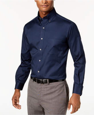 Club Room Men Big & Tall Classic/Regular Fit Stretch Easy-Care Solid Dress Shirt