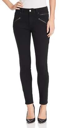 Kenneth Cole Moto Skinny Jeans in Black