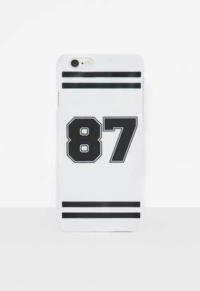Missguided White Varsity I Phone 6 Case