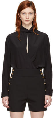 Chloé Black Open Front Blouse