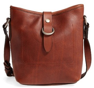 Frye Amy Leather Crossbody Bag - Brown $298 thestylecure.com