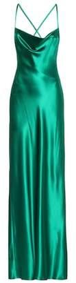 Galvan Whiteley silk-satin gown