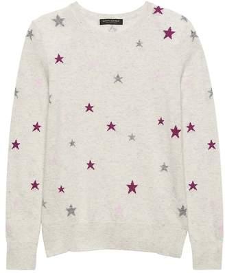 Banana Republic Cashmere Star Crew-Neck Sweater