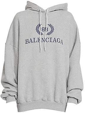 Balenciaga Women's Cotton Jersey Logo Hoodie