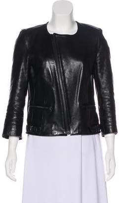 BLK DNM Leather Zip-Up Jacket
