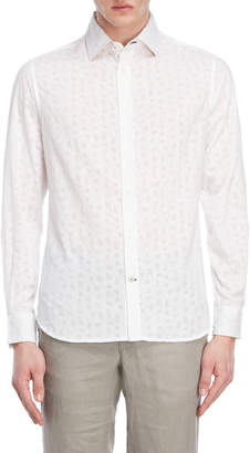 Ganesh White Insect Pattern Shirt