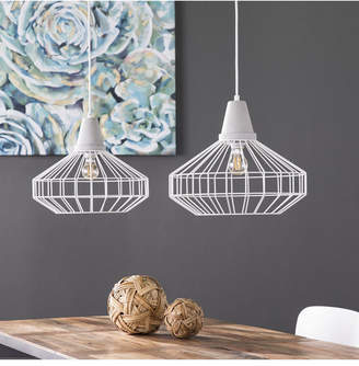 Southern Enterprises Starling Cage Pendant Lamp 2 Piece Set