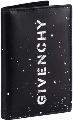 Givenchy Paint Splatter Bifold Wallet