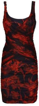 Roberto Cavalli Floral Mesh Overlay Dress