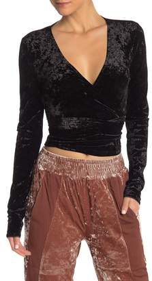 HAH | Hot-As-Hell Top Notch Wrap Crushed Velvet Top