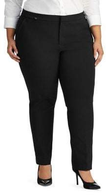 Lauren Ralph Lauren Plus Stretch Straight Pant