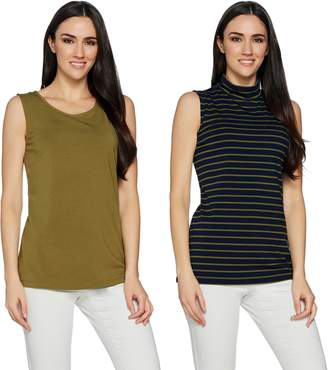Solid & Striped Susan Graver Weekend Cotton Modal Set of 2 Tops